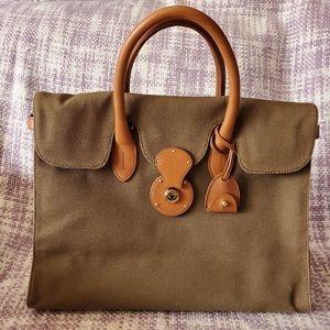 Ralph Lauren olive green canvas Ricky satchel